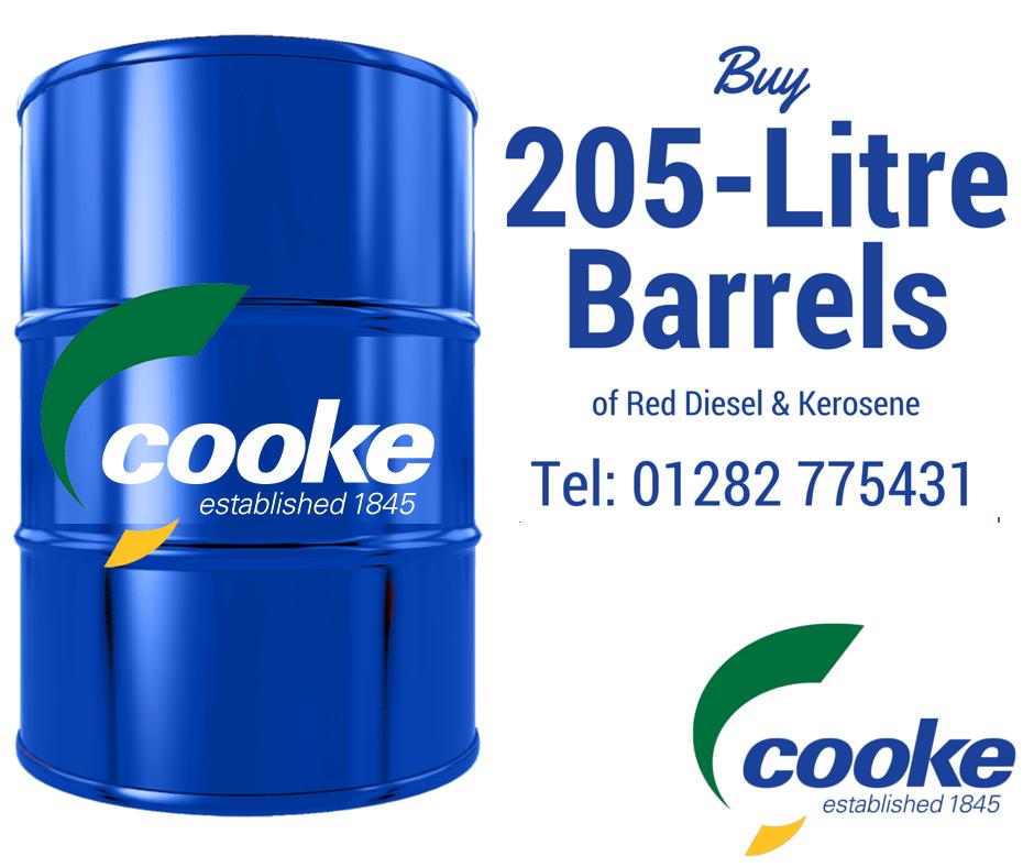 Red Diesel Kerosene Barrels