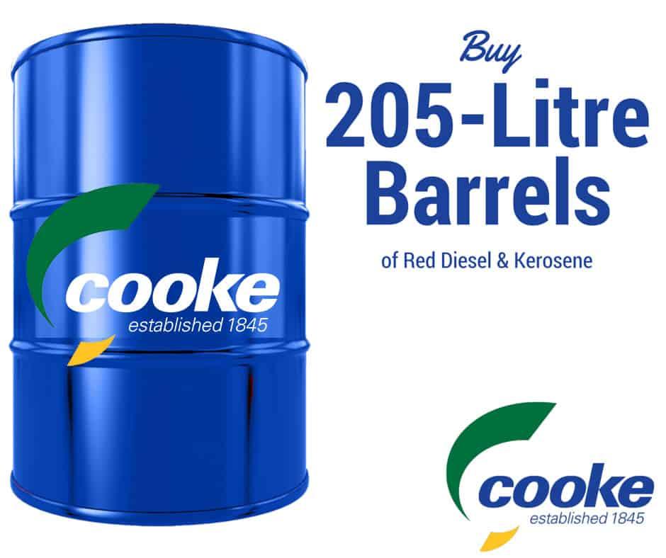 Buy 205-Litre Drums: Red Diesel & Kerosene | Cooke Fuels